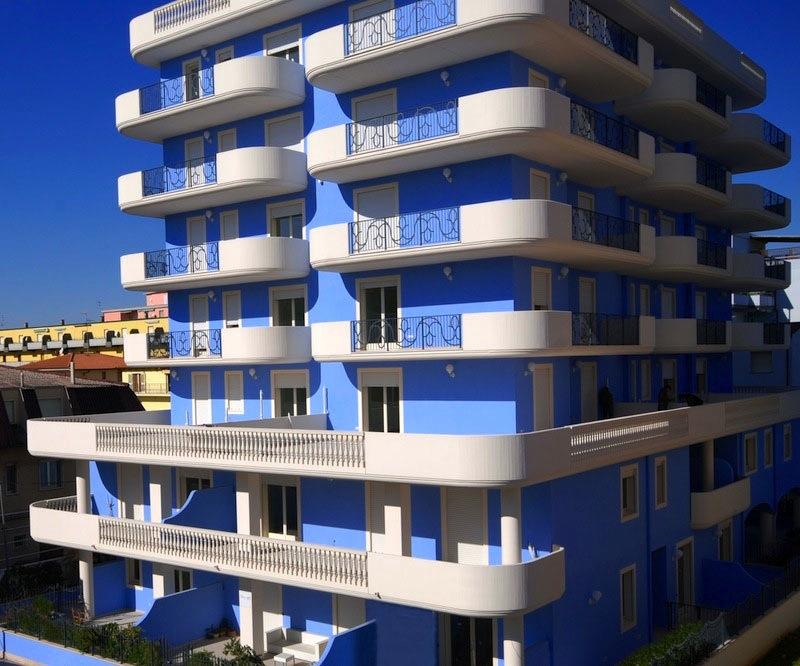 residence riccione: interno 8 - trilocale 6 posti letto (alba